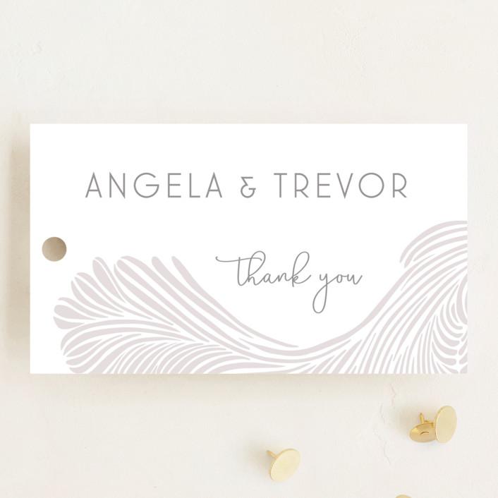 """Wailea Waves"" - Wedding Favor Tags in Sea Shell by raven erebus."