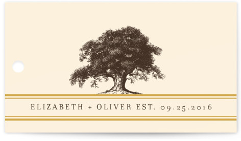 Oak Tree Wedding Favor Tags