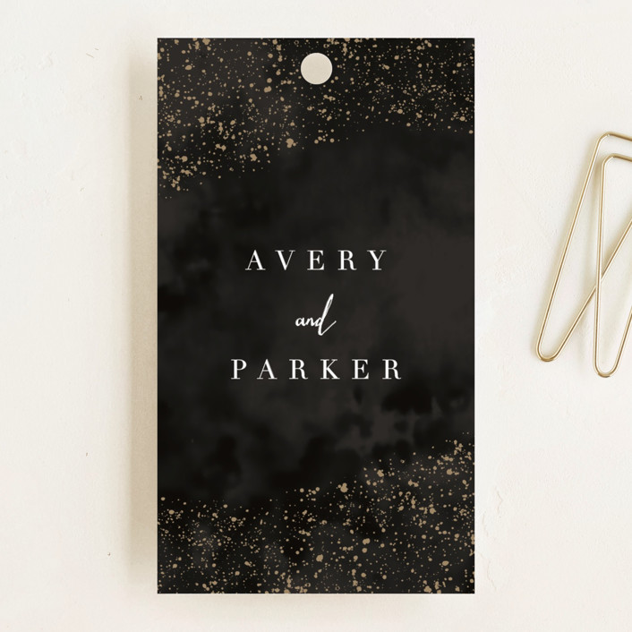 """glistening stardust"" - Wedding Favor Tags in Onyx by Angela Marzuki."
