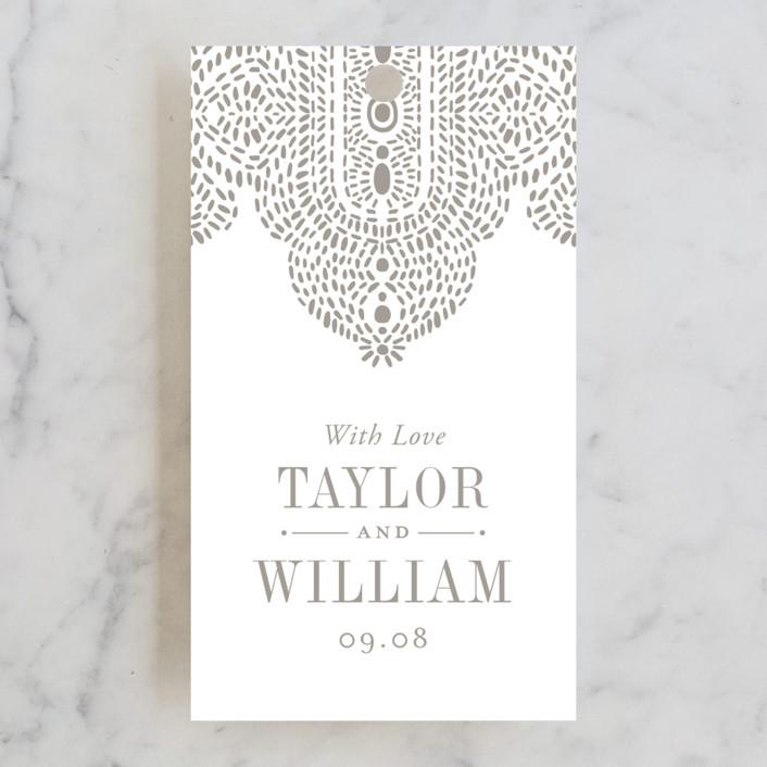 """""""Lavish Affair"""" - Wedding Favor Tags in Warm Grey by Oscar & Emma."""