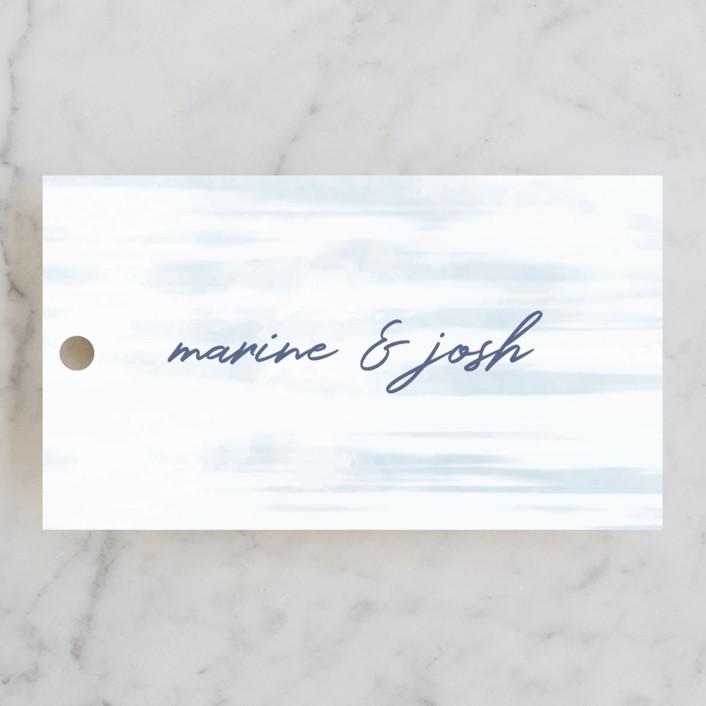 """Marine"" - Wedding Favor Tags in Wave by kelli hall."