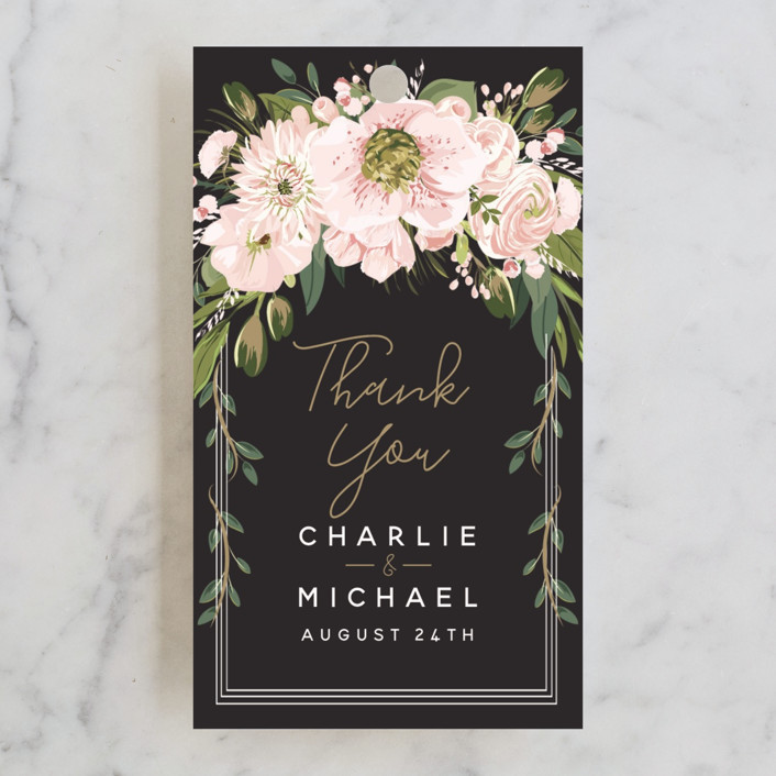 """""""Garden Blooms"""" - Wedding Favor Tags in Ivory by Susan Moyal."""