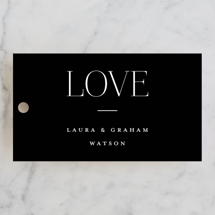 """""""conjoin"""" - Wedding Favor Tags in Pearl by Alethia Frye."""