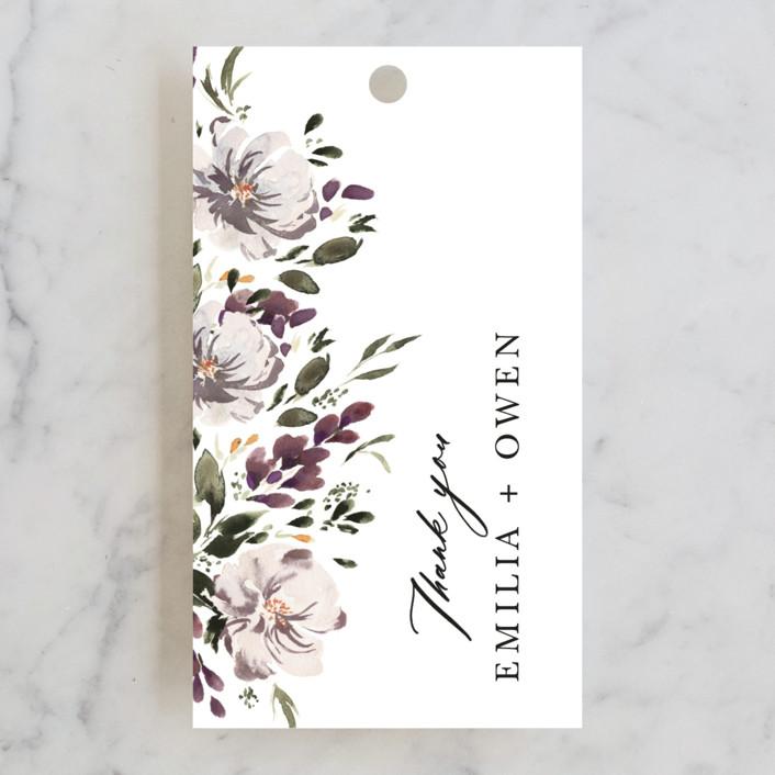 """""""iliya"""" - Wedding Favor Tags in Bordeaux by Itsy Belle Studio."""