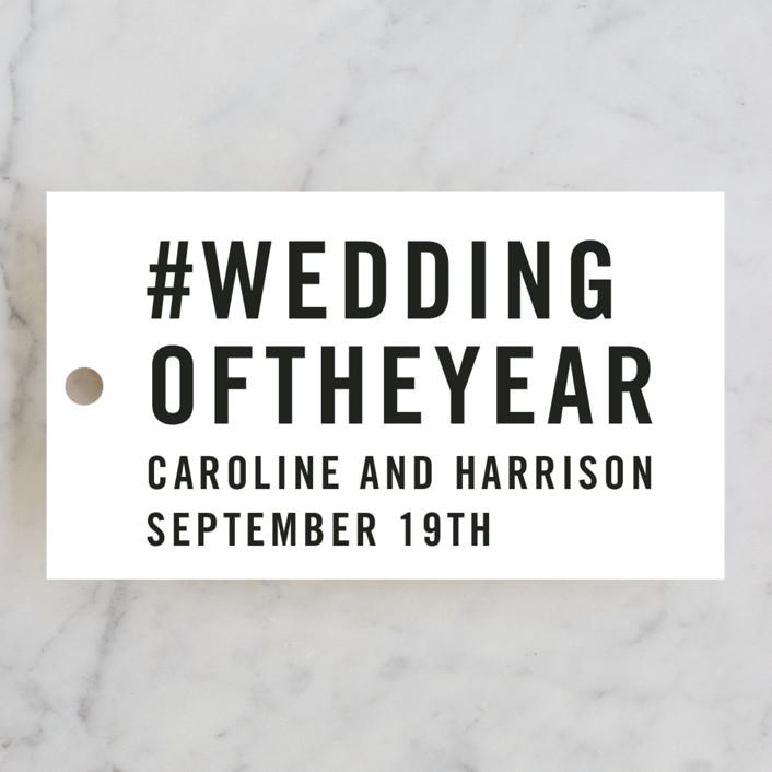 """""""Open Bar"""" - Wedding Favor Tags in Tuxedo by Jennifer Lew."""