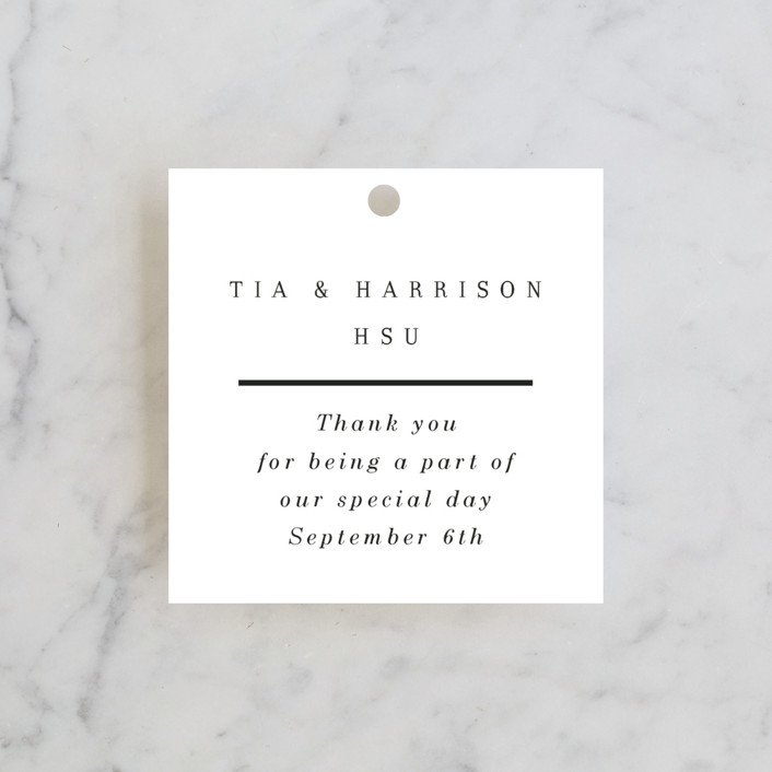 """""""Pencil Thin"""" - Wedding Favor Tags in Ivory by Baumbirdy."""