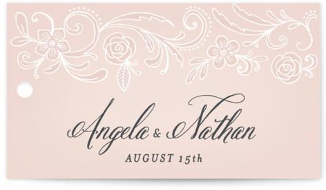 Elegant Lace Wedding Favor Tags