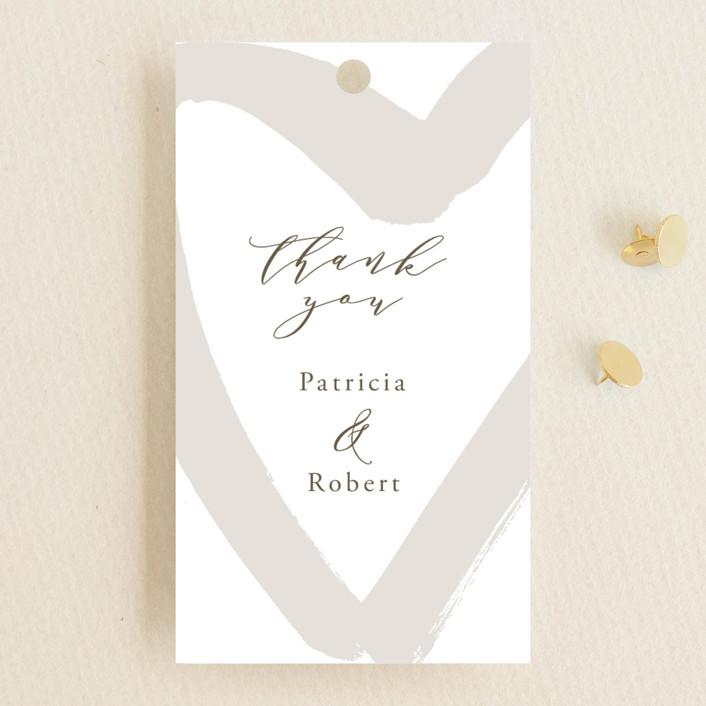"""love heart"" - Wedding Favor Tags in Brass by Alexandra Dzh."