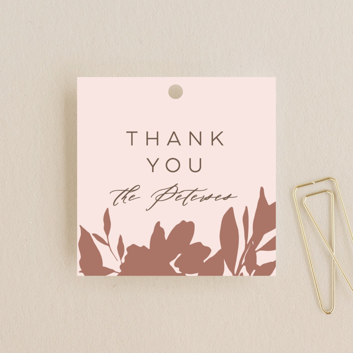 """Lavish Bouquet"" - Wedding Favor Tags in Blush by Everett Paper Goods."