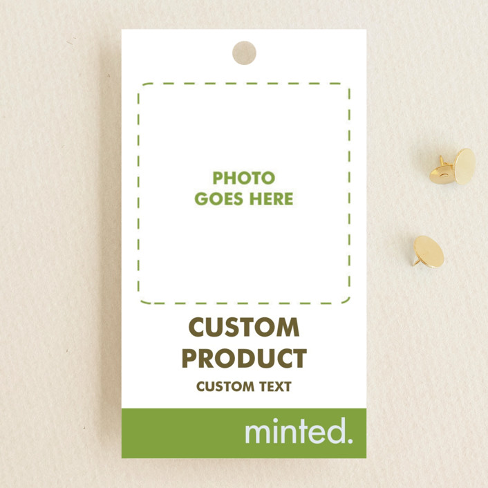 """Portrait"" - Wedding Favor Tags in Charcoal by Minted Custom."
