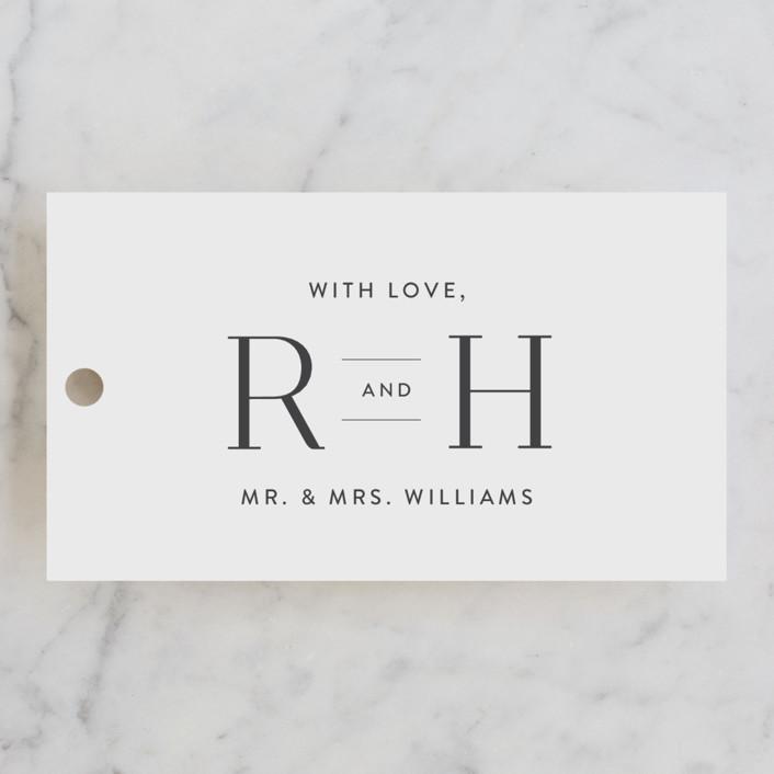 """Beloved"" - Wedding Favor Tags in Mist by Design Lotus."