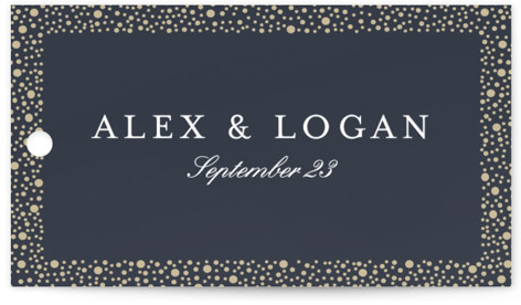 glittered Wedding Favor Tags