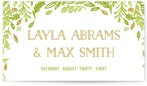 Gathering Of Leaves Wedding Favor Tags