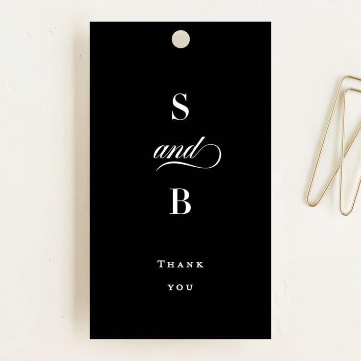 """""""Side by Side"""" - Wedding Favor Tags in Tuxedo by Carolyn MacLaren."""