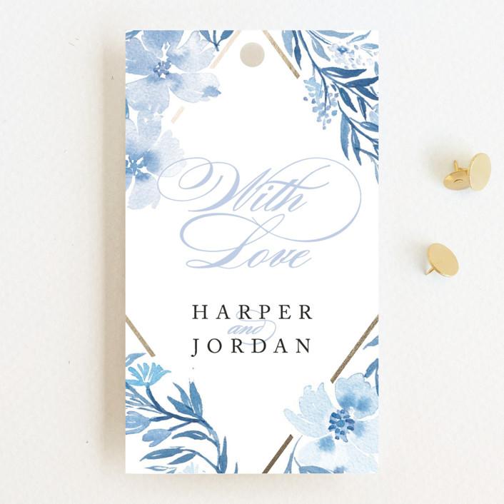 """""""Poetic Blue"""" - Wedding Favor Tags in Sky by Qing Ji."""