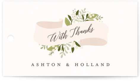 Ribbonly Wedding Favor Tags