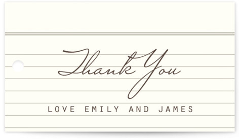 Library Wedding Favor Tags