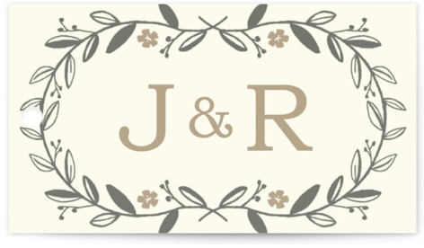 Garland Wedding Favor Tags