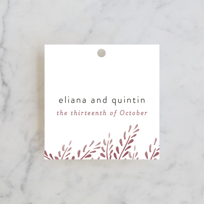"""""""Lupines"""" - Rustic Wedding Favor Tags in Marsala by R studio."""