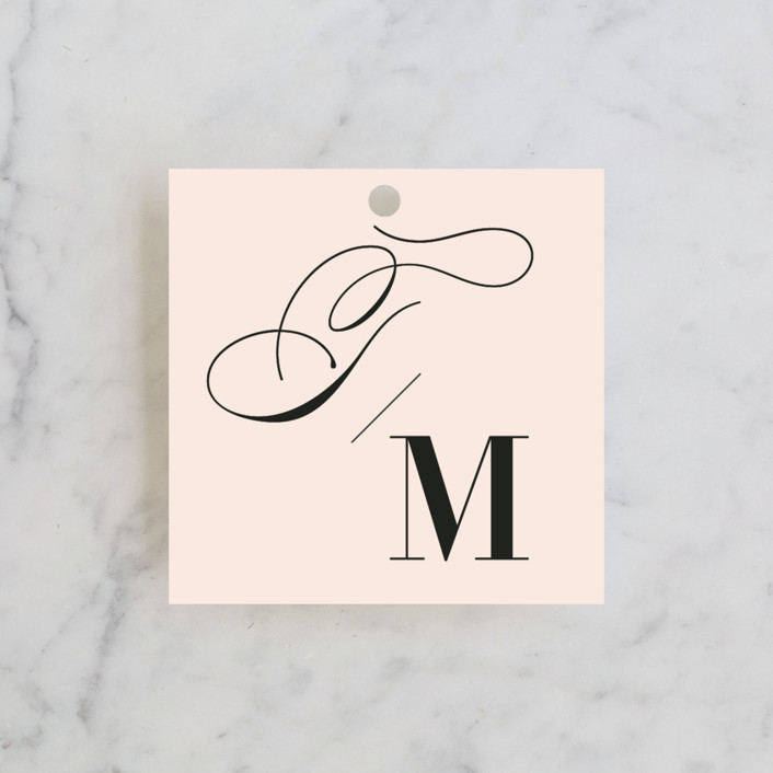 """Darling and Dashing"" - Preppy Wedding Favor Tags in Blush by Alston Wise."