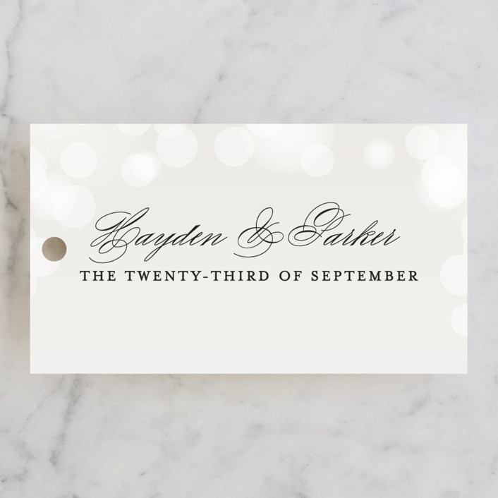"""Starry Eyed"" - Wedding Favor Tags in Cloud by Design Lotus."