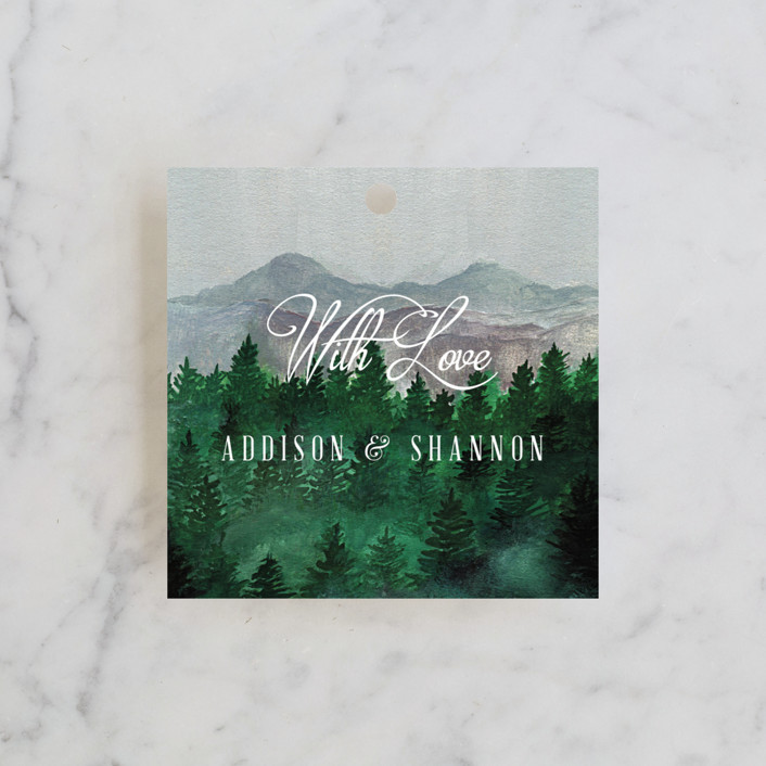 """""""Adventure Awaits"""" - Rustic, Destination Wedding Favor Tags in Smoke by Elly."""