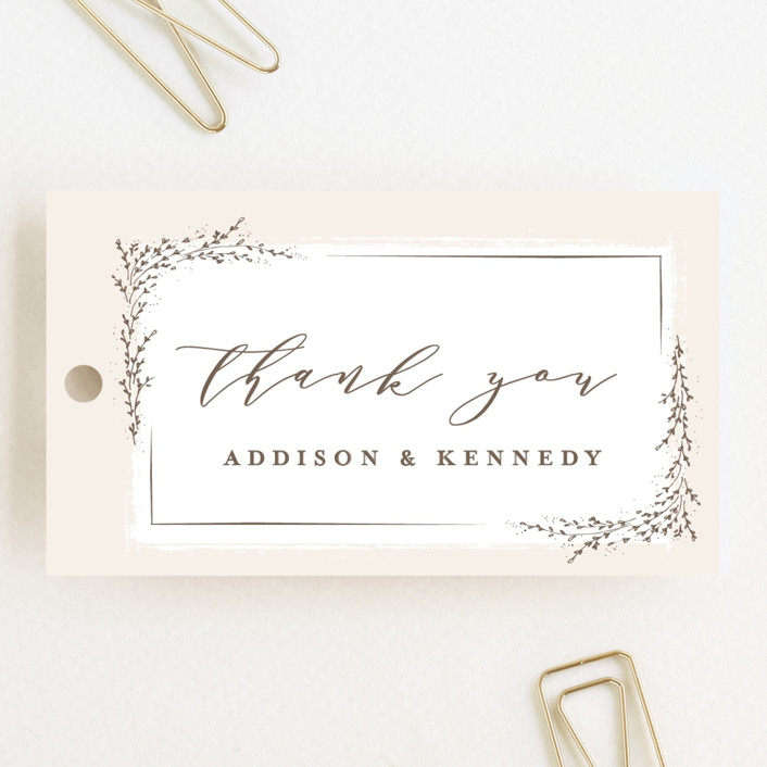 """""""positano"""" - Wedding Favor Tags in Champagne by chocomocacino."""