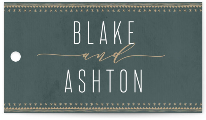 This is a green, gold Wedding Favor Tags by Carolyn Nicks called boho glam with Standard printing on Signature in Tag Flat Card format. Add the perfect finishing touch to all of your wedding gifts with these chic and customizable ...