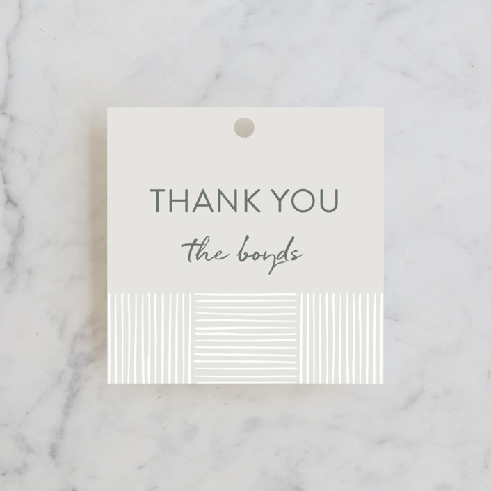 """Bamboo"" - Wedding Favor Tags in Quartz by Tennie and Co.."