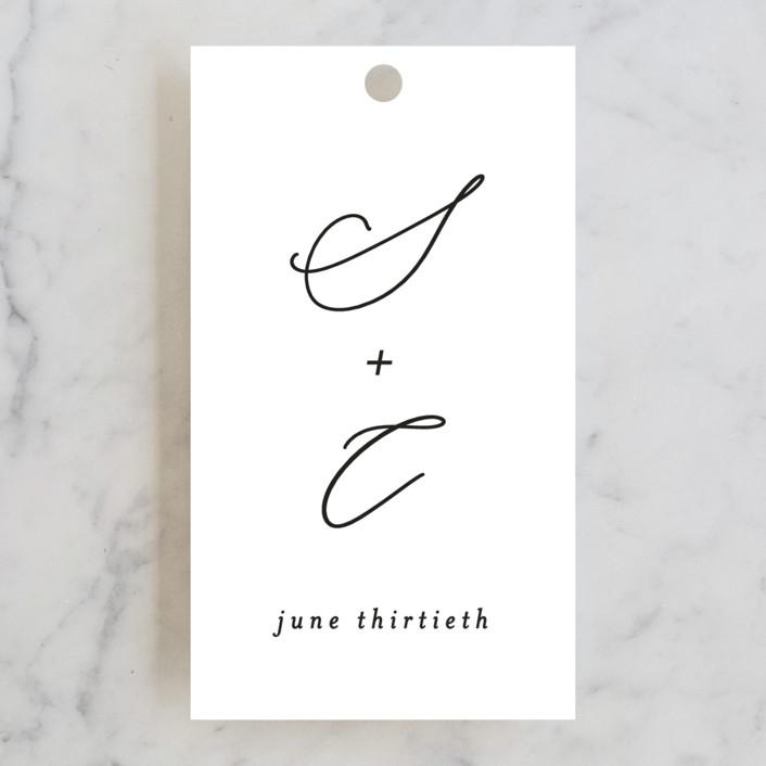 """gloss rings"" - Modern Wedding Favor Tags in Quartz by Roxanne Fay."