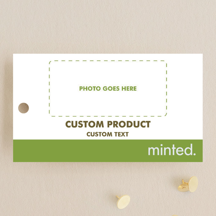 """""""Landscape"""" - Wedding Favor Tags in Charcoal by Minted Custom."""