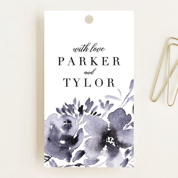 """Inky Delight"" - Wedding Favor Tags in Orchid by Petra Kern."