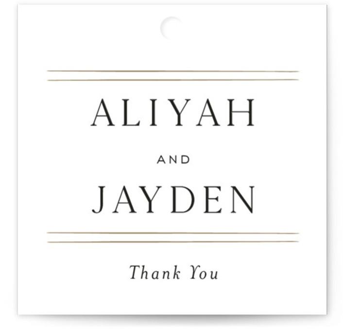 Joyous Occasion Wedding favor tags
