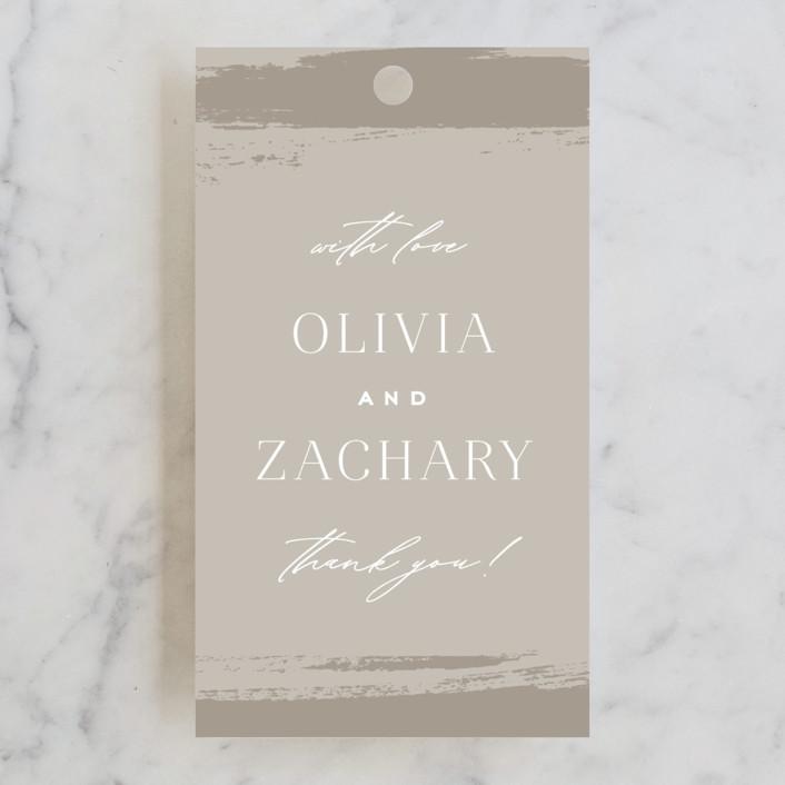 """""""True Love"""" - Wedding Favor Tags in Clay by Carolyn Nicks."""