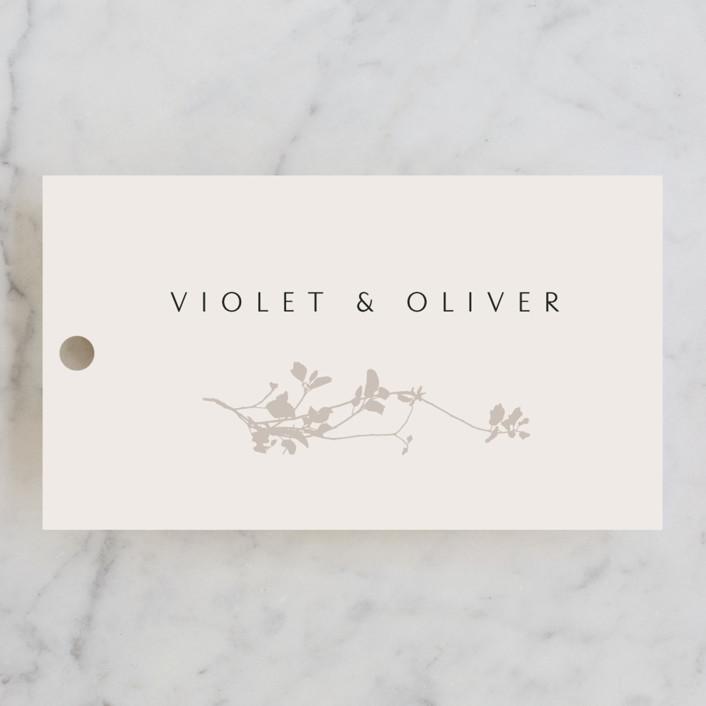 """Mist"" - Wedding Favor Tags in Ivory by Kelly Schmidt."