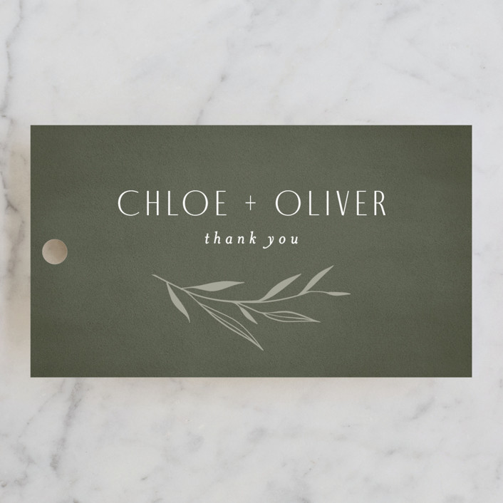 """""""Botanical Arches"""" - Bohemian Wedding Favor Tags in Moss by Kelly Schmidt."""
