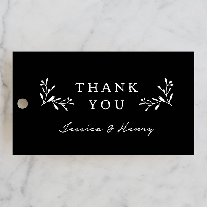 """""""Charleston"""" - Wedding Favor Tags in Tuxedo by Susan Brown."""