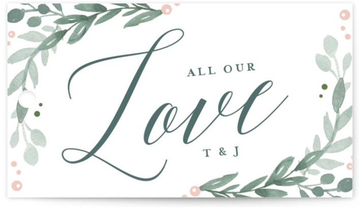 This is a landscape floral, rustic, blue, pink Wedding Favor Tags by Kristen Smith called Garden Glamour with Standard printing on Signature in Tag Flat Card format. Add the perfect finishing touch to all of your wedding gifts with these ...