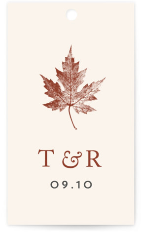 Leaf Print Wedding Favor Tags