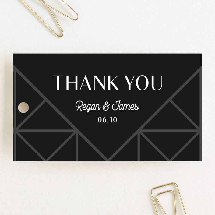 """""""Brilliant Cut"""" - Wedding Favor Tags in Tuxedo by Meggy Masters."""
