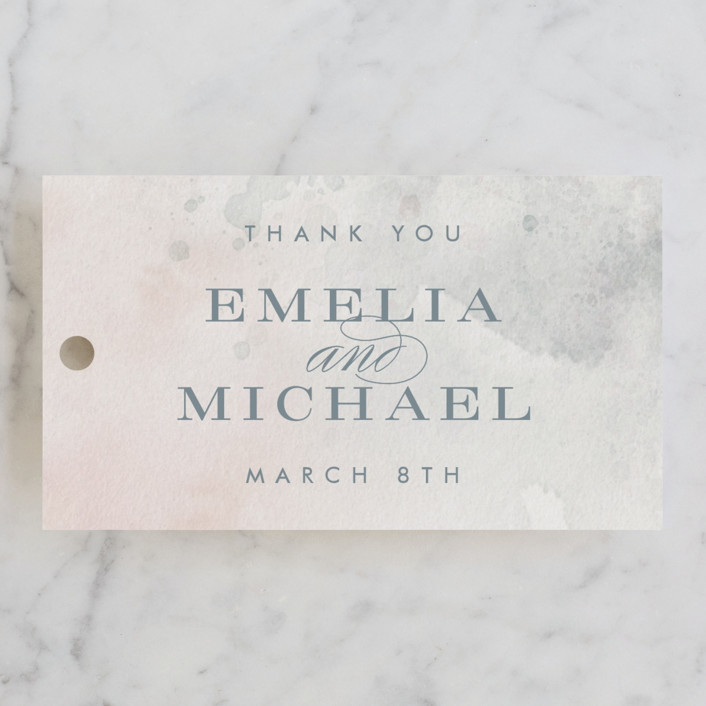 """""""Burnished"""" - Wedding Favor Tags in Blush by Heather Cairl."""