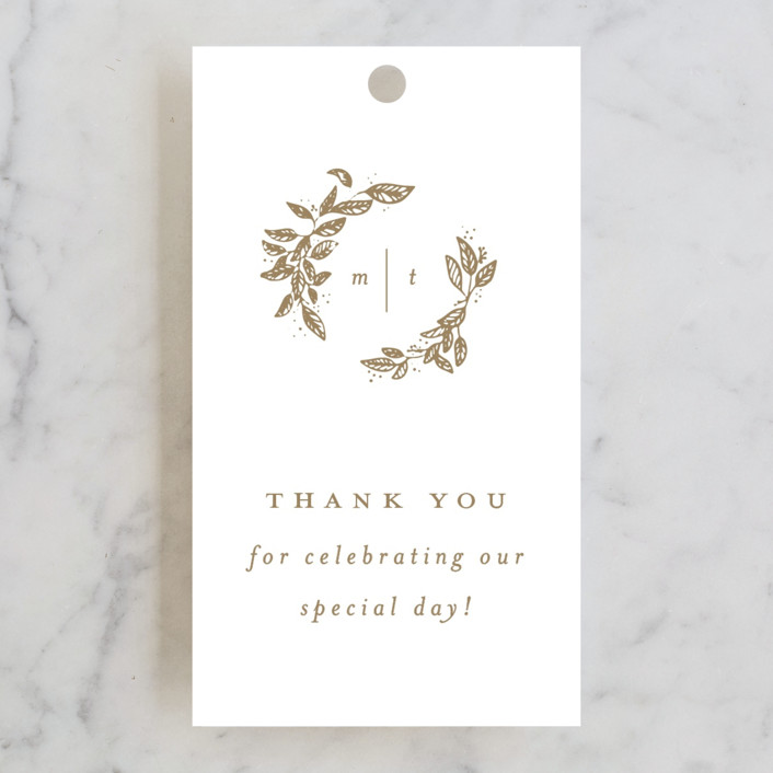"""""""Reflection"""" - Rustic Wedding Favor Tags in Porcelain by Leah Bisch."""