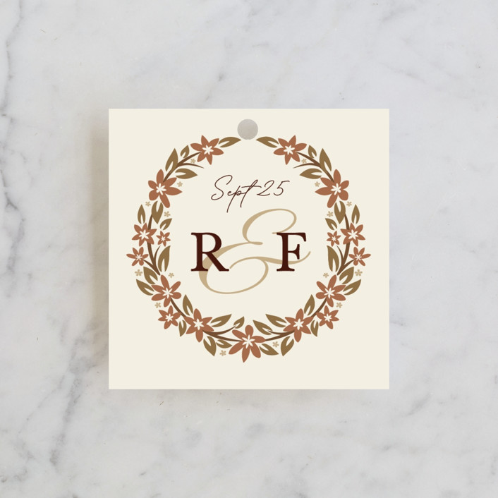 """""""In the country"""" - Rustic Wedding Favor Tags in Chestnut by Paper Sun Studio."""