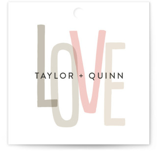 Love Lettered Wedding Favor Tags