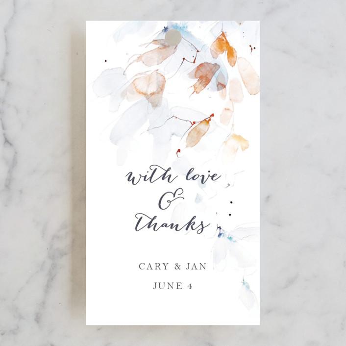 """Petale"" - Wedding Favor Tags in Blush by Kelly Ventura."