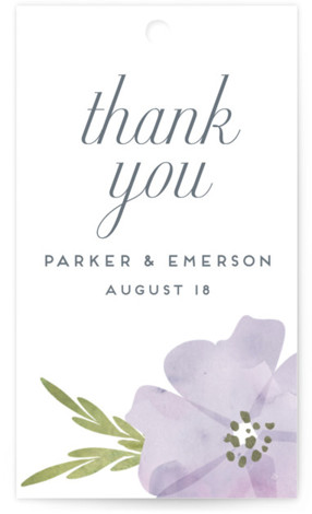 This is a portrait floral, purple, pink Wedding Favor Tags by Petra Kern called Romantic Watercolor Flora with Standard printing on Signature in Tag Flat Card format. Add the perfect finishing touch to all of your wedding gifts with these ...