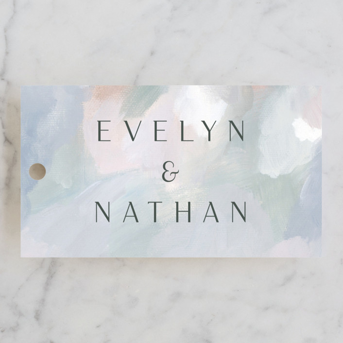 """Evelyn"" - Wedding Favor Tags in Capri by Nicole Walsh."