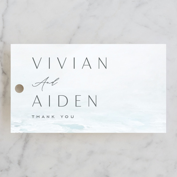 """""""At Sea"""" - Wedding Favor Tags in Sky by Nicoletta Savod."""