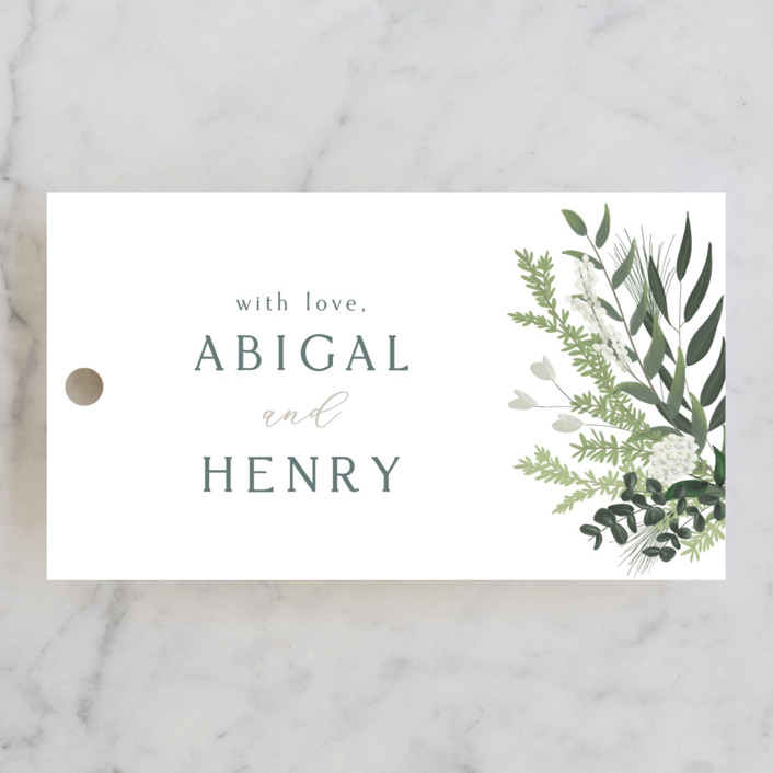 """""""Collection"""" - Wedding Favor Tags in Blanco by Kaydi Bishop."""