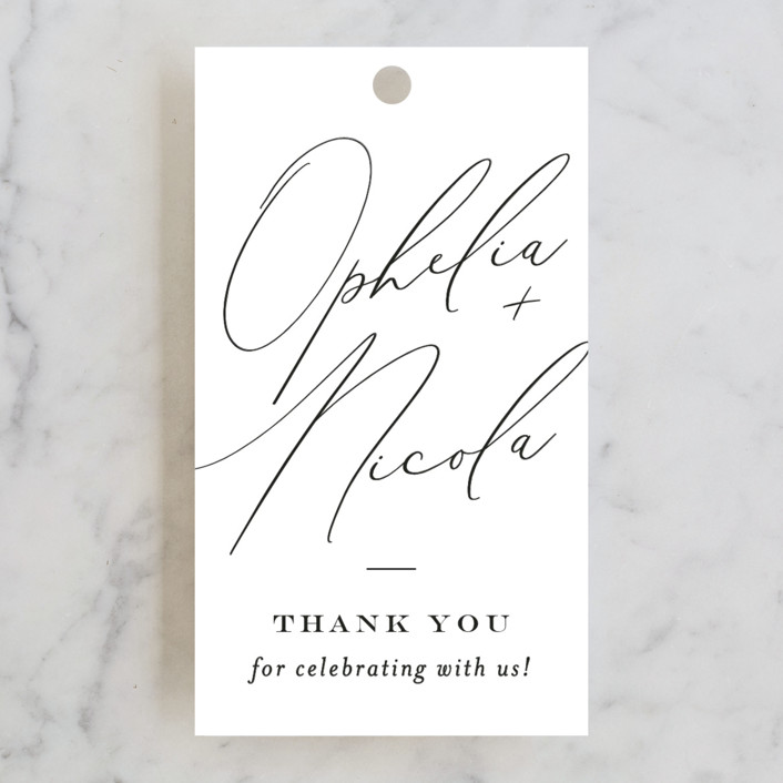 """""""Us"""" - Wedding Favor Tags in Tuxedo by Leah Bisch."""